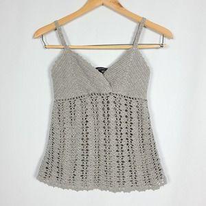 International Concepts Petite Crochet Shimmer Tank